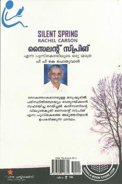 back image of Silent Spring Enna Pusthakathiloode Oru Yatra