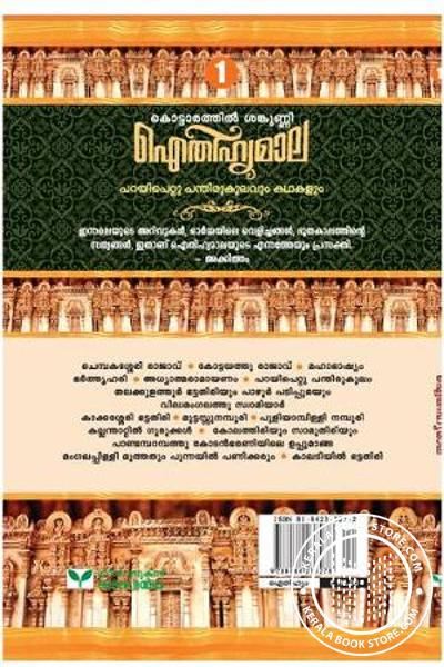 back image of Aitheehyamala Mala Kottarathil Shankunni 1 - Parayipetta panthirukulavum Kathakalum